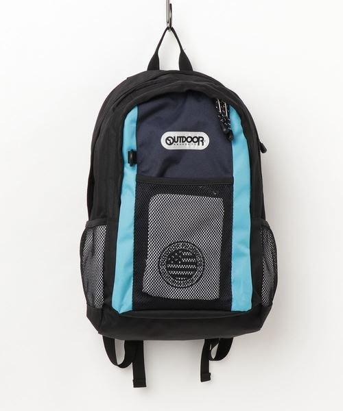 【Mr.Japan】日本限定 outdoor 手提 後背包 書包 大容量 通勤 a4 水壺袋 黑x藍 預購款