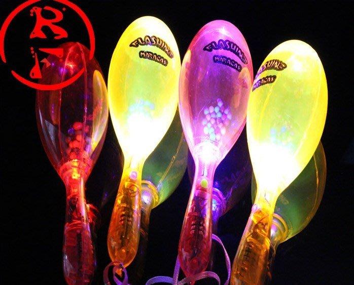 LED 沙鈴(附開關) 發光沙鈴 閃光沙鈴 搖鈴 螢光棒 加油棒 演唱會 聖誕跨年晚會 造勢【A990004】