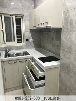 土城廚具 小L型廚具 韓國人造石 人造石廚具 小套房廚具 石英石廚具 304不鏽鋼廚具 系統櫃 收納櫃 裝還 廚具工廠