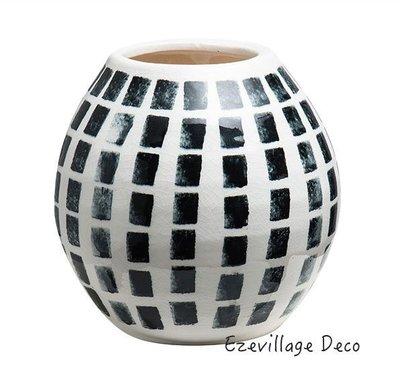 【Eze Art Deco】美國設計師傢飾,美式現代簡約陶土手繪花瓶