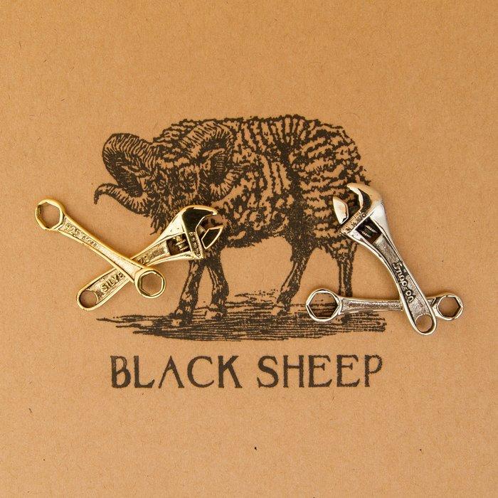 黑羊選物 小板手鑰匙圈 兩件一組 黃銅 白銅 可選 送禮小物 情侶送禮 復古 潮流 老味 隨身配件