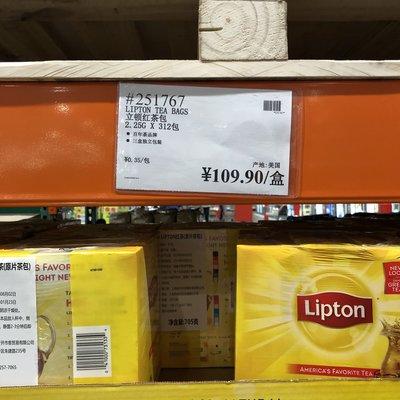 JadeDragon旗艦~上海costco開市客國內代購 Lipton立頓紅茶包705g(2.25g×312包)