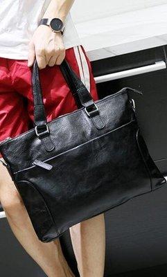 FINDSENSE Z1 韓國 時尚 潮 男 黑色 皮質 多功能 斜背包 手提包 單肩包 側背包 電腦包 公事包
