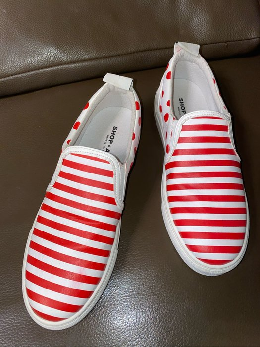 義大利品牌shop art 真皮休閒鞋size:39 made in italy