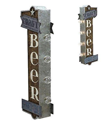 (I LOVE樂多) 日本進口 BEER LED立體仿舊情境招牌燈 家庭/酒吧/車庫/營業場所 情境擺設