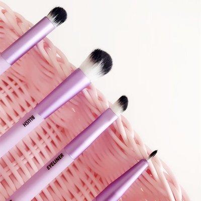 創意彩妝工具!!!清倉魅力紫色雙頭便攜...