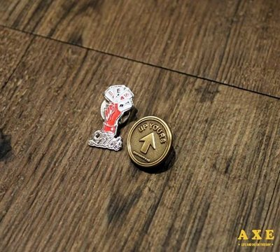 【AXE】GOOD WORTH -UP YOURS & BEST WISHES PIN 別針 飾品 美牌pin