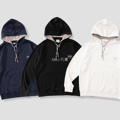 Abel代購 潮牌現貨 SOGATA CHECK'S HOODIE碎格內襯拼接連帽衛衣男春秋帽衫