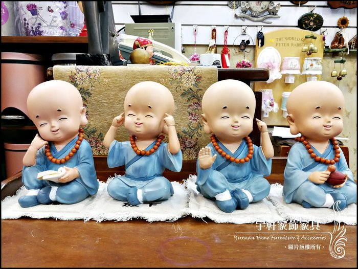 【現貨】小和尚小沙彌存錢筒(四款) 撲滿 擺飾 波麗娃娃 公仔 可愛中國風 送禮 店面民宿裝飾 ♖花蓮宇軒家飾家具♖