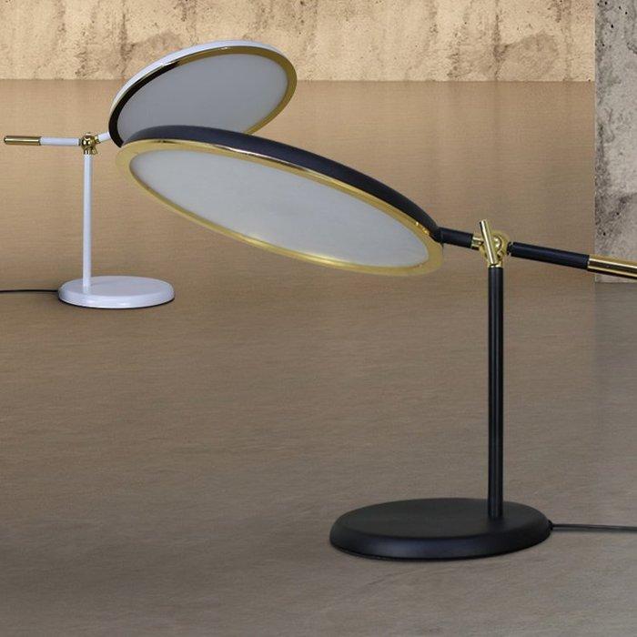 【58街】「日蝕LED台燈」桌燈、閱讀燈、檯燈,美術燈。複刻版。GL-167