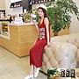 洋裝夏女韓版2017新款大碼無袖顯瘦時尚印花...