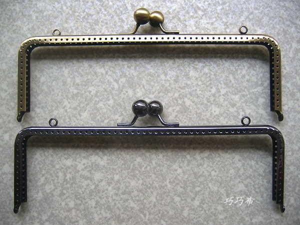 *巧巧布拼布屋*台灣製~大圓珠方型口金20cm-細框款 古銅色賣場  / 買2個送紙型
