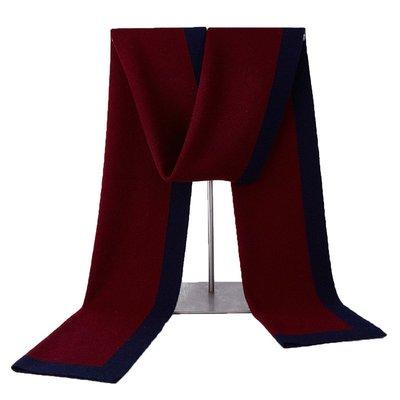 圍巾 羊毛 披肩-休閒簡約雙色針織男配件3色73wh21[獨家進口][米蘭精品]