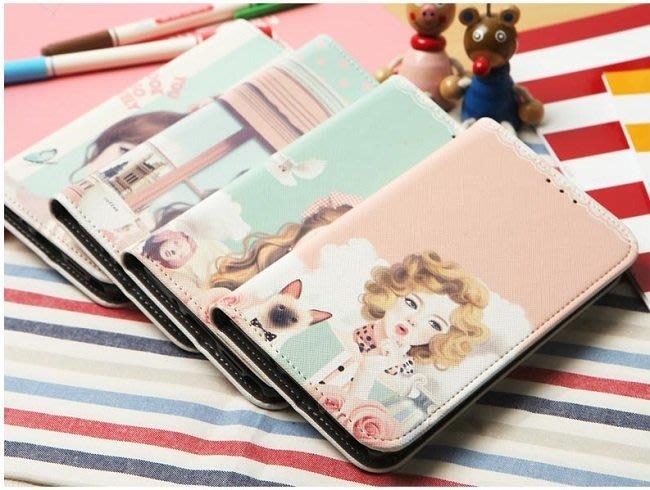 韓國花樣女孩彩繪皮套 Note 8 S9 plus S8 plus S7 Edge 5 A8 J7手機殼手機套iphone X iphone 8 Plus 6