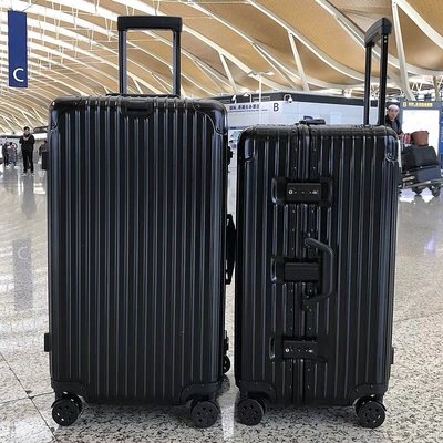 優惠價 24吋加厚鋁框款行李箱 超大容量 旅行箱 出國托運 胖胖箱 3比7