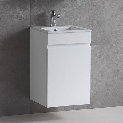 《101衛浴精品》小空間專用 面盆浴櫃 42CM 防水發泡板 5層環保亮面鋼琴烤漆【全台大都會免運費 可貨到付款】