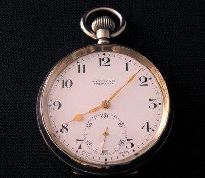 【藏家釋出】早期收藏《T.GAUNT & Co MELBOURNE》瑞士古董懷錶 ◎ 品相不錯 ◎ 朋友託售
