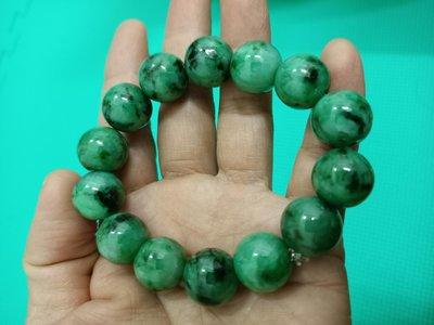 滿綠的緬甸a貨翡翠手鍊