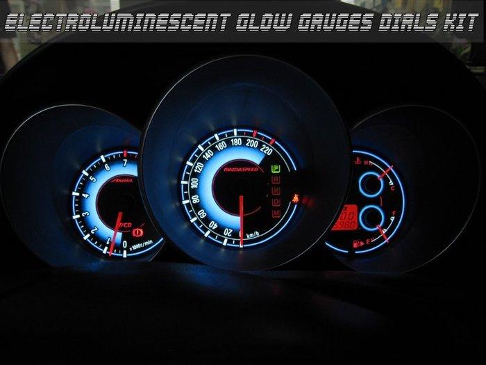 《達克冷光實體店面 現貨供應》舊式MAZDA3 自發光漸層藍高反差儀表
