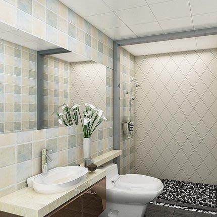 自粘牆紙瓷磚紋方格子馬賽克牆貼防水防油廚房衛生間浴室翻新貼紙