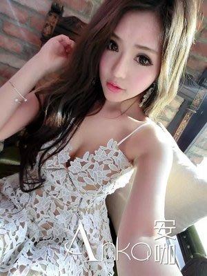 [ ohya梨花 ] =韓國帶回=最新春夏新款性感名媛白色縷空蕾絲細肩帶長洋裝連身裙