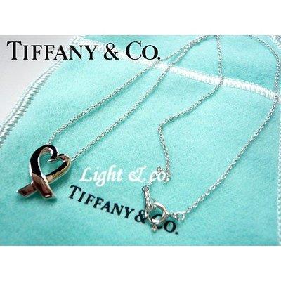 【Light & co.】專櫃真品 TIFFANY 925 純銀 愛心 心形 項鍊 中形 Loving Heart