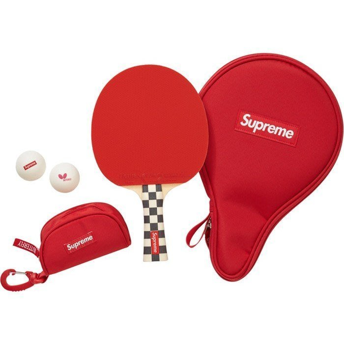 Supreme Butterfly Table Tennis Racket Set Checkerboard 桌球拍組