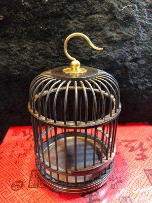 『華山堂』 手工 小型黑檀 蟈蟈籠子 鳥籠配件 木編 蚱蜢 螞蚱 蟈蟈 蛐蛐 蟋蟀昆蟲籠