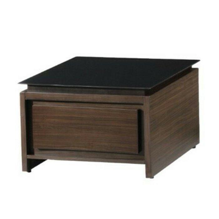 【優比傢俱生活館】19 達達購-木心板2.3尺黑玻小茶几/方几 KDY T-6029-2