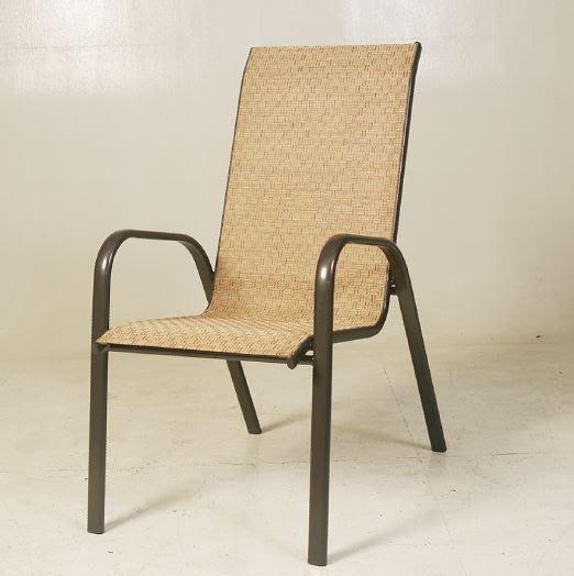 【南洋風休閒傢俱】戶外休閒椅系列 –戶外鐵製高背紗網休閒餐椅 海灘椅 庭園椅(C96003)