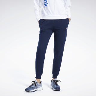 FOCA REEBOK JOGGER 女裝 長褲 休閒 棉質 寬鬆 縮口褲 柔軟 深藍 運動褲 銳步 FK2780