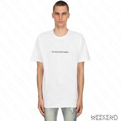【WEEKEND】 FUCK ART MAKE TEES FAMT Lost Control 短袖 上衣 T恤 白色