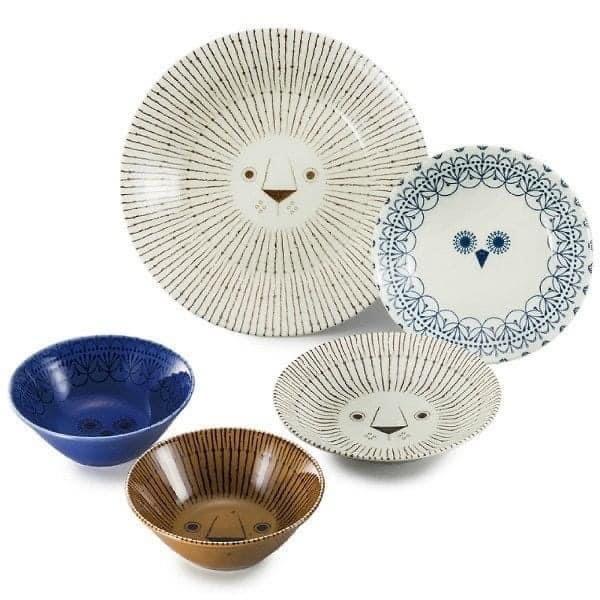 日本製三鄉陶器造型碗盤組