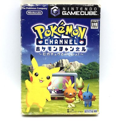 (無書) (中古) 原裝日版 GameCube GC Game Pokemon Channel 寵物小精靈 比卡超 Wii可玩