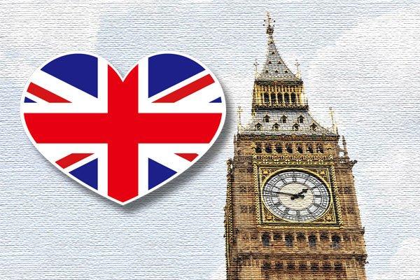 【國旗貼紙專賣店】英國愛心形旅行箱貼紙/抗UV防水/多國款可收集和客製