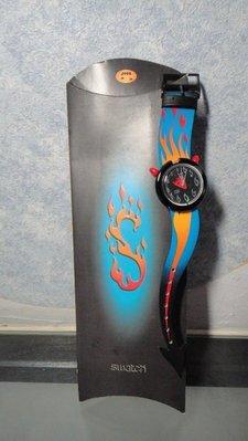 swatch-1995年絕版POP萬聖節錶款-Hot Stuff * 附紙盒特殊包裝