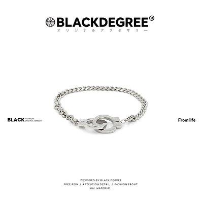 DSSAIR璀璨~『 黑度 』Handcuffs 復古風嘻哈街頭信仰力量麻花手銬鈦鋼手鍊環