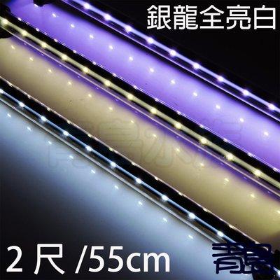 五月缺Y。。。青島水族。。。SLI-60W 顯色燈水中 LED 水中燈 龍魟 神仙 熱帶魚==全亮白2尺55cm