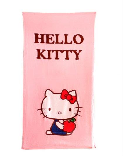 彩虹商城☆ 正版授權 小浴巾 Hello Kitty 凱蒂貓 100%純棉 60X110 現貨喔~