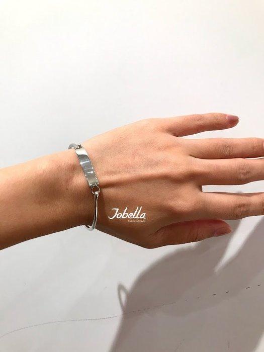 ✽JoBella✽ 925銀 簡約一片式造型手環 現貨