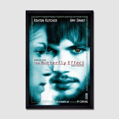 X|設|計 經典電影海報掛畫The Butterfly Effect蝴蝶效應電影版畫裝飾掛畫空間設計工作室收藏品裝飾掛畫