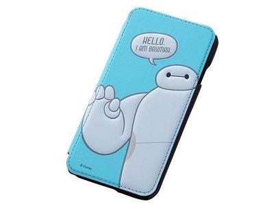 尼德斯Nydus~* 日本迪士尼 大英雄天團 杯麵 Baymax 翻頁皮套 手機殼 4.7吋 iPhone6 淺藍