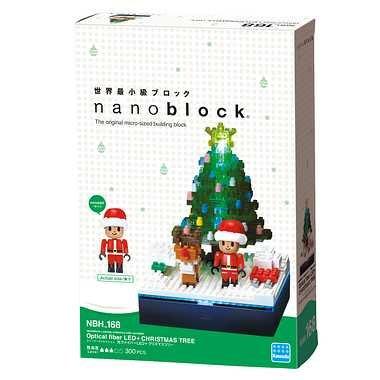 全新 Nano Block no.168: 聖誕樹 + LED燈 (日版) - Lego 聖誕禮物 聖誕節 禮物 女朋友 男朋友 抽獎 送禮 派對 聯歡會