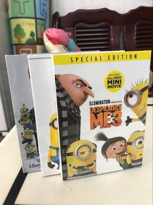 外貿影音 純英文原版卡通電影神偷奶爸1-3部 Despicable Me 卑鄙的我 DVD碟