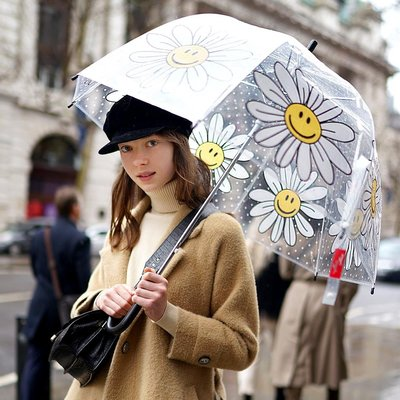 wiggle wiggle透明雨傘女兒童可愛小巧輕便拍照道具便攜小清新ins