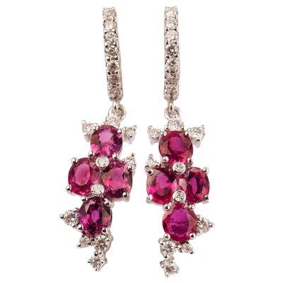 【JHT金宏總珠寶/GIA鑽石專賣】2.80ct天然紅寶鑽石耳環/材質:18K(JB53-A02)