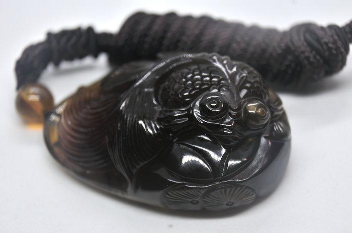緬甸琥珀 棕紅珀 紫羅蘭珀 金棕珀 金棕珀金魚(帶蜜)(付普通證書)