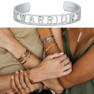MANTRABAND 美國悄悄話 WARRIOR 銀色手環 新款小寬版 真正的戰士