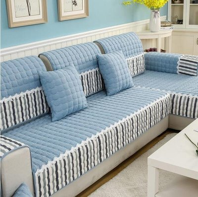 四季沙發墊布藝防滑坐墊簡約現代客廳四季 全包沙發套實木沙發全蓋糖罐
