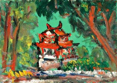 高秀明 新竹東門城 2003 4號 油畫 (油彩、野獸派、台灣、苗栗、造橋、本土、星期日畫會、張萬傳、蔣瑞坑)
